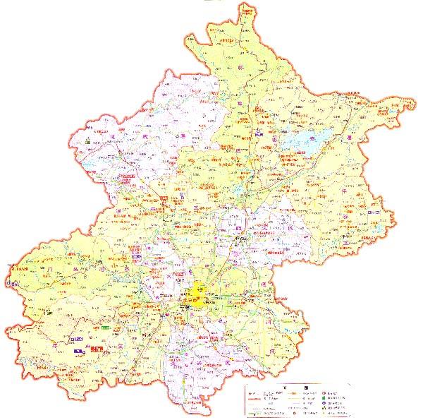 北京旅游景点地图手绘